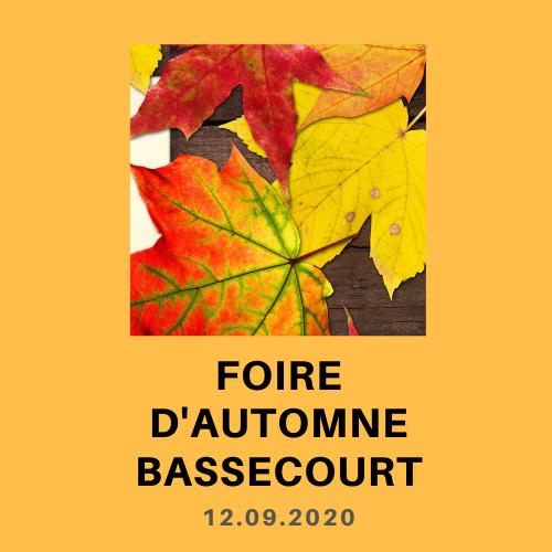 Foire d'automne à Bassecourt 12.09.20