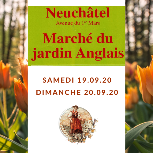 Marché du jardin Anglais à Neuchâtel