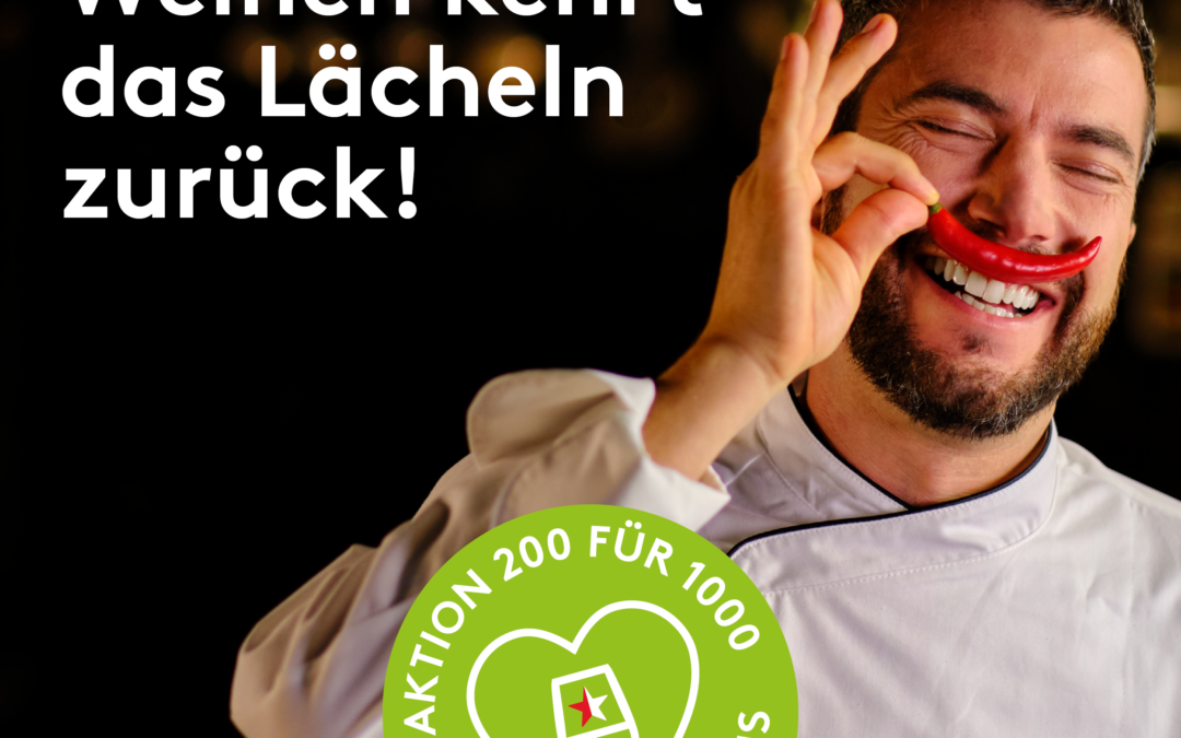 Für Hotel-Restaurant Aktion 200 für 1000